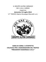 IL GRUPPO ALPINI CARNAGO SEZ. A.N.A.