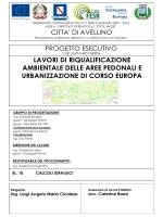 Calcoli idraulici - Comune di Avellino