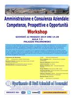 workshop amm. e cons. aziendale - dipartimento di studi aziendali
