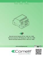www.comelitgroup.com Manuale tecnico Gateway ViP Art. 1456 / Art