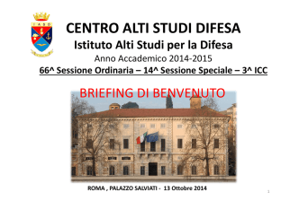 BRIEEFING GEN CRETELLA - Ministero della Difesa