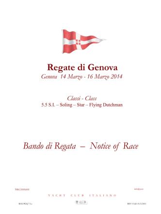 Bando Regate di Genova 2014 1