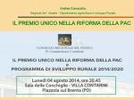 Relazione di Andrea COMACCHIO, Direttore dipartimento