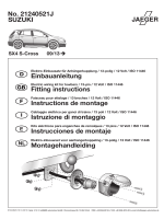 SUZUKI No. 21240521J Einbauanleitung Fitting instructions