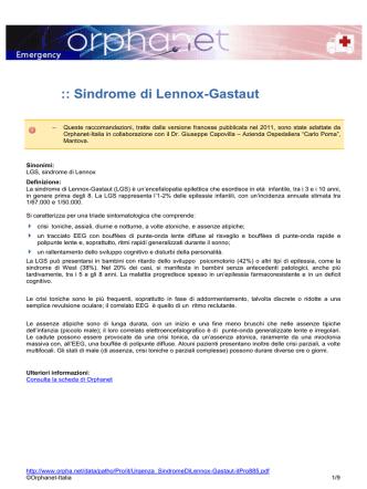 :: Sindrome di Lennox-Gastaut