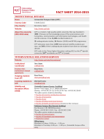 FACT SHEET 2014-2015 - Universitat Pompeu Fabra