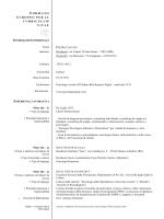 Curriculum Vitae Formato Europeo