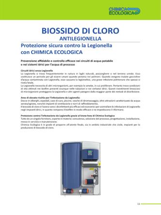 biossido di cloro antilegionella