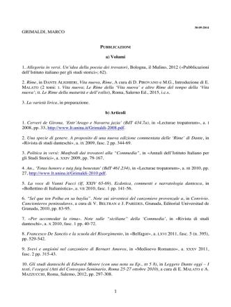 CV-Grimaldi Sapienza PDF - Sapienza