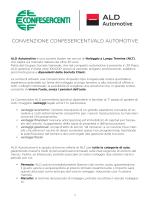 CONVENZIONE CONFESERCENTI/ALD AUTOMOTIVE