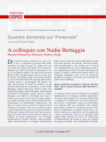 A colloquio con Nadia Bertaggia, Human Resources Director