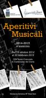 Opuscolo Aperitivi musicali 2014-2015