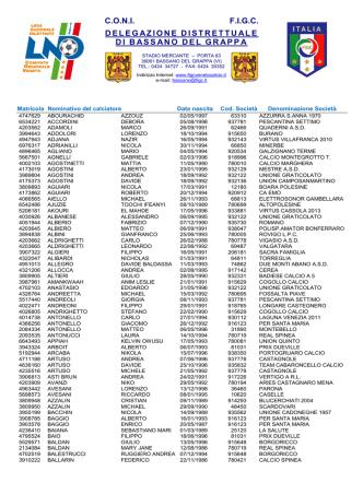Al.. Com. 2.15 Liste Svincolo ex. art. 108