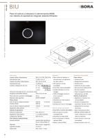 Piano di cottura a induzione in vetroceramica BORA con sistema di