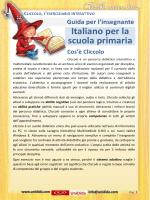 Italiano per la scuola primaria