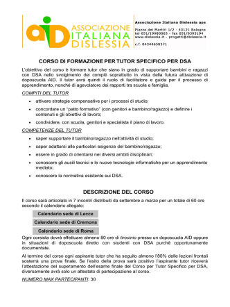 Bando - Associazione Italiana Dislessia