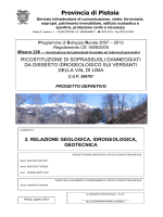 Relazione geologica, idrogeologica, geotecnica