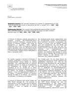 Technischer Bericht - Comune di Bolzano