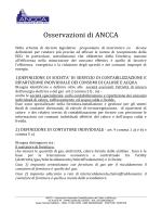 Osservazioni di ANCCA - Senato della Repubblica