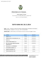 ESITO GARA PROT - Provincia di Foggia