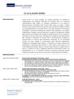 CV di CLAUDIO SORDI - business process advisory