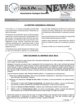 Ass.S.De. Onlus - Associazione Sostegno Demenze