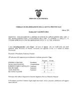 PROVINCIA DI PISTOIA Seduta del 5 AGOSTO 2014