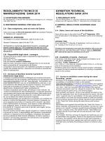 REGOLAMENTO TECNICO Dl MANIFESTAZIONE SANA 2014
