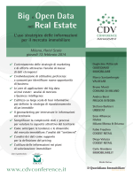 Big e Open Data nel Real Estate