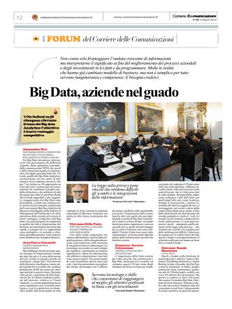 Big Data, aziende nel guado - Corriere delle comunicazioni