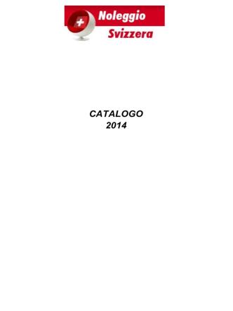 CATALOGO 2014 - Noleggio Svizzera
