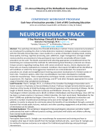 NEUROFEEDBACK TRACK - Biofeedback Foundation of Europe