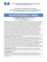 NEUROFEEDBACK TRACK - Biofeedback Foundation of Europe
