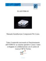 ELAD FDM-S1 Manuale Installazione Componenti Per Linux Tutto il