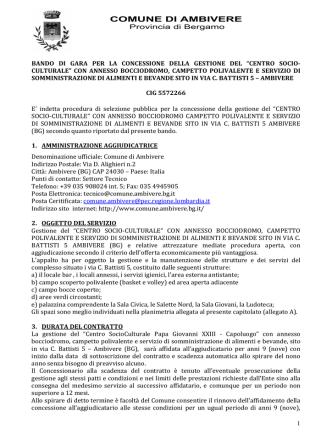 2.BANDO DI GARA - Comune di Ambivere