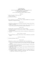 Alberto Marcone - Dipartimento di Matematica e Informatica