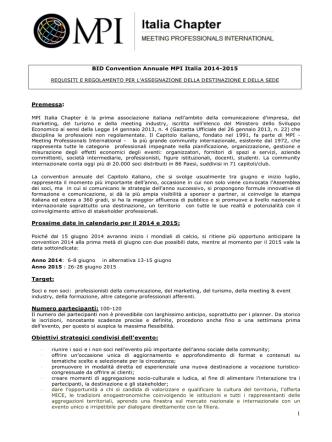 BID MPI Italia 2014-2015