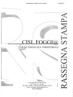 RASSEGNA STAMPA CISL FOGGIA 27/02/2014 1