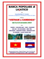 """""""VIETNAM e CAMBOGIA"""" - Banca Popolare di Lajatico"""