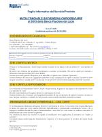 Foglio Informativo Mutui Ipotecari e Sovvenzioni Chirografarie