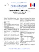 Istruzioni di Regata - Associazione Sportiva dilettantistica Nautica