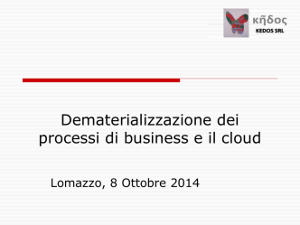 Dematerializzazione dei processi di business in cloud