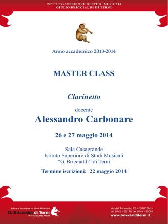 Alessandro Carbonare - Istituto Superiore di Studi Musicali G