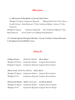 Medagliere Provvisorio al 04 Dicembre 2014
