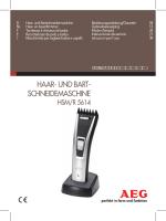 Haar- und Bart- scHneidemascHine