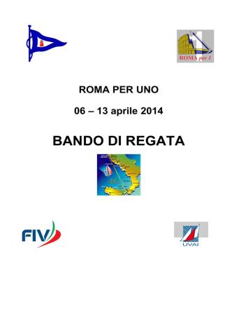 Bando di regata Romax1 2014