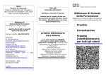 prestito libri e consultazione Sez. Angelo Broccoli