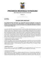 Avviso - Provincia Regionale di Ragusa