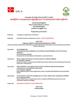 Bozza evento eHealth_e competenze digitali per i
