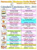 Scarica il Calendario Incontri Catechismo 2014-2015